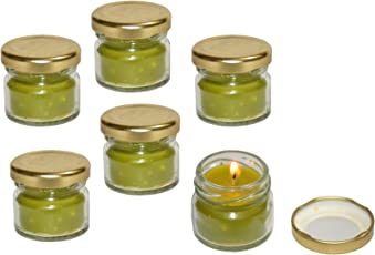 Pure Source India Scented Mini Jar Candle 30 Gram Each Set Of 6 Pcs Tea Tree Fragrance