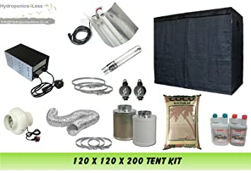 Grow Tent 120 u0026 Grow Light 600w u0026 4  Fan Kit u0026 COCO complete set up kit (1.2 x 1.2 x 2 Meter (120x120x200)) Amazon.co.uk Kitchen u0026 Home  sc 1 st  Amazon UK & Grow Tent 120 u0026 Grow Light 600w u0026 4