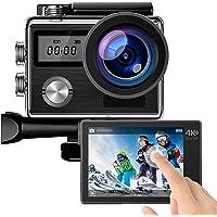 4K Action cam 20 MP Unterwasserkamera mit EIS Anti-Shake Touchscreen Fernbedienung WiFi helmkamera 170° Weitwinkel…