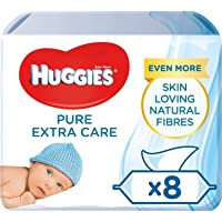 Huggies Baby Wipes, Pure Extra Care, 8 Packs (448 Wipes Total)