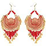 Aradhya Stylish Navratri/Durga Puja Collection Beads Oxidized Golden Earrings for Women and Girls
