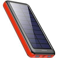 Feob Solar Powerbank 26800mAh -【Drei Wahlmöglichkeiten für Type-C, Micro USB oder Solarpanel-Eingänge】- Solarladegerät…