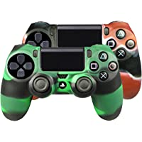 SMARDY Bundle - 2X Silicone Case Custodia Protettiva Rosso/Nero + Verde/Nero Compatibile con Playstation 4 PS4…