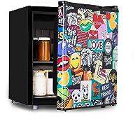 KLARSTEIN Cool Vibe - réfrigérateur, classe d'efficacité énergétique A +, porte avec sticker imprimé BD, compartiment…