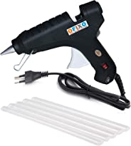 Ofixo 60-Watt Hot Melt Glue Gun with 5 Glue Sticks (Black)