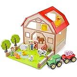 New Classic Toys 10850 - Casa della fattoria, in legno, multicolore