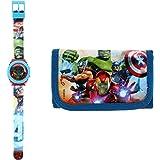Kids Licensing |Reloj Digital + Billetera para Niños | Reloj Avengers | Billetera Avengers | Set Reloj y Billetera Infantil |
