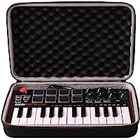 LTGEM EVA voyage Étui rigide Housse de protection Case pour AKAI Professional MPK mini mkII Clavier Maître MIDI/USB 25 Touches Sensibles à la Vélocité avec 47 Pads et Joystick 4 Voies