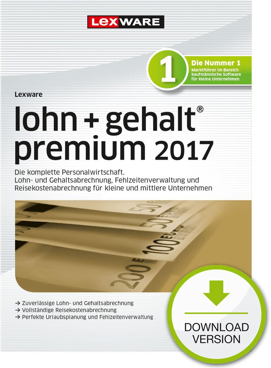 Lexware lohn+gehalt premium 2017 Download Jahresversion (365-Tage) [Download]