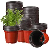 Macetas de Plástico, Tvird 130 unids Macetas para Plantas de 10 cm para Plantas de Guardería, Macetas, Plantas, Contenedores,