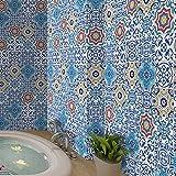 Pag Creative Casa Décor Adesivo autoadesivo in piastrelle in PVC per la stanza da bagno Cucina Decorazione da parete della parete della stanza da bagno 20cmx5m (7.87 x 196.85 pollici) (WTS005)