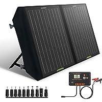 ECO-WORTHY 60W klappbares Solarpanel mit Laderegler, DC-Ausgang, tragbares Laden für den Außenbereich, faltbar in der…