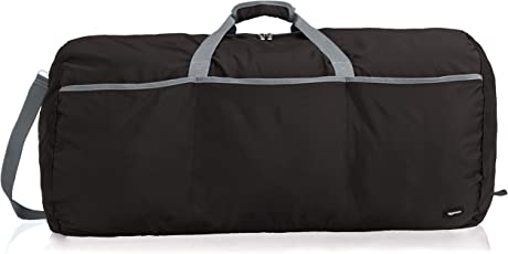 AmazonBasics 98 Ltrs Large Duffel Bag, Black