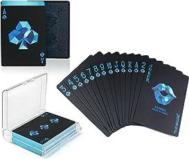 joyoldelf Elegant Poker Spielkarten mit süßem Lippenmuster, PVC Wasserdicht Kartenspiel mit Einer Geschenkbox, Perfekt für Cardistry, Party und verschiedenes Kartenspiel