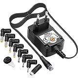Outtag - Adaptador de alimentación universal de 12 W, 3 V, 12 V, 7 conectores y micro USB para lector wifi, router, CCTV cáma