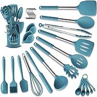 BAIYING Ustensiles de Cuisine en Silicone, 30 pcs Set de Cuisine - Anti-Rayures & Résistant à la Chaleur, sans BPA…