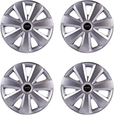 "Autofy Ultra Stylish Light Weight 14"" inches 7 Spokes Snap-On Universal Wheel Cap Wheel Cover Hub Cap (Set of 4 Grey)"
