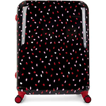 Lulu Guinness Hardside Spinner Suitcase, 77 cm, Black