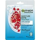 GARNIER, ansiktsmask, Moisture Bomb Super Hydrating & Energizing, granatäpple, 32 g