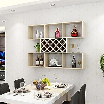 Dellt- Weiß Ahorn Farbe Kreative Wandbehang Weinschrank Weinregale