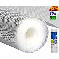 Bulfyss Multipurpose PVC Textured Super Strong Anti-Slip Mat Liner (Transparent White, 45 X 500 cm, 5 m Roll)