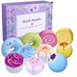 Bath Bombs Set, INPHER 10 Larger 3.8Oz Organic Natural Handmade Bubble Floating Fizzies Spa Kit Multicolored Gifts for Her Wo