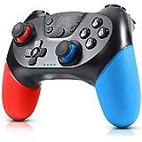 Gezimetie Mando para Nintendo Switch, Mando Pro Controller Mando pc Inalambrico con Función Gyro Axis/Dual Shock y Turbo Comp