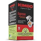 Kimbo Cialde Caffè Compostabili ESE Espresso Napoletano - 8 Pacchi da 18 Cialde (Totale 144 Cialde)