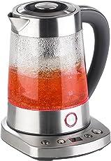 Rosenstein & Söhne Teeautomat: Automatischer Wasserkocher & Teebereiter, Dampf-Funktion, 6 Programme (2in1-Wasserkocher und Teebereiter)
