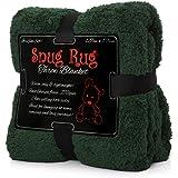 "Snug Rug Pregiato Sherpa, Edizione Speciale Coperta in Pile 127 x 178 cm (50"") x 70 cm (Verde)"