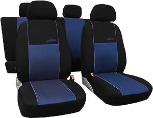 Saferide Universal Blau Sitzbezüge Komplettset Sitzbezug Für Auto Sitzschoner Set Schonbezüge Autositz Autositzbezüge Pkw Sitzauflagen Sitzschutz Gallante Vip Auto
