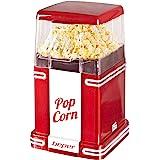 Beper - Machine à Pop-Corn, Pop-Corn en 3 Minutes, Sans Matières Grasses, Circulation d'Air Chaud, Puissance 1200W - Rouge [C