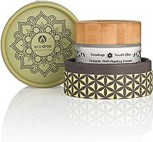 La crème anti-âge bio Ecodrop, traitement anti-rides quotidien avancé pour hommes et femmes. 100% naturel, avec acide...