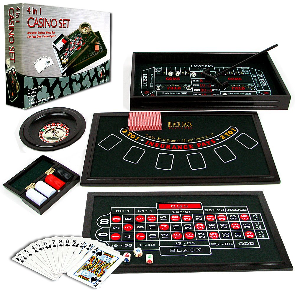 roulette casino poker 4 in 1