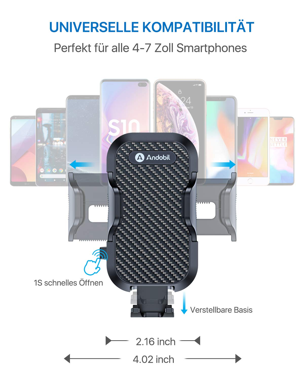 andobil-Handyhalter-frs-Auto-Handyhalterung-2019-Upgrade-Lftung-Halterung-Universale-KFZ-Handyhalterung-Smartphone-Halterung-360-Drehbar-fr-iPhoneX-Xr-Samsung-S10-S9-Huawei-Xiaomi-Usw