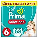 Prima Pants Külot Bebek Bezi 6 Beden Ekstra Large Süper Fırsat Paketi 68 Adet
