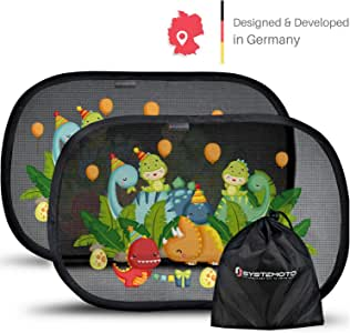 Systemoto Parasole Autoadesivo Auto indicato per Neonati con Protezione UV Certificata Tendine Parasole Auto Bambini Set da 2 pezzi