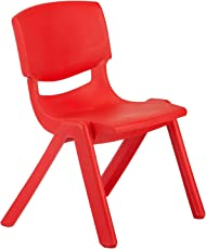 Baybee Ultra Strong and Durable Plastic Baby chair (Red)