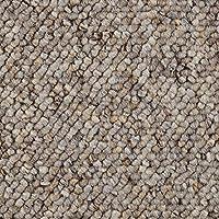 Teppichboden Auslegware Meterware Schlinge grau hell 400 und 500 cm breit verschiedene L/ängen