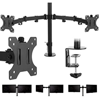 """THIRDPARTY SPEED (GS352/T) TRIPLE MONITOR ARM, VESA MOUNT, UP TO 23"""" & 7KG LOAD - BLACK"""