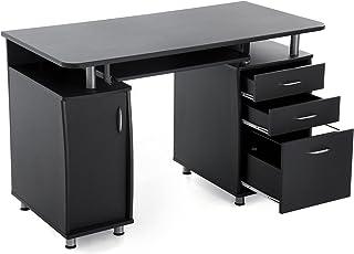 SONGMICS MDF XXL 121 X 76 X 60 Cm Bürotisch Computertisch Mit  Tastaturauszug, Einem Unterschrank
