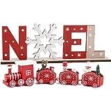 Train de Noël en Bois Lettre en Bois Ornement Bois Decoration Noël Table de Noël Boule de Noël Lettre Noël Cadeau Jouets Fenê