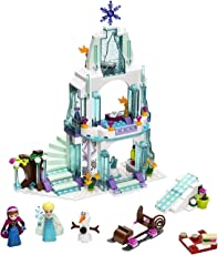 Frozen Elsa's Sparkling Ice Castle Doll House 299 Pieces Building Block Lego Style Set Action Figures Play Set Toy for Kids