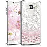 kwmobile Samsung Galaxy A5 (2016) Hülle - Handyhülle für Samsung Galaxy A5 (2016) - Handy Case in Rosa Weiß Transparent