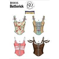 Butterick Patterns B5935 Patrons pour Corset pour Femme Taille AX5 32 à 40 Blanc
