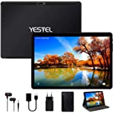 YESTEL Tablet 10 Pulgadas Android Tablet PC con 4GB RAM 64GB ROM + Expandido 128GB Quad Core Let Dual SIM 8000mAh con Teclado