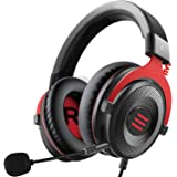 EKSA E900 Wired Stereo Gaming Headset-Over Ear Headphones with Noise Canceling Mic, Detachable Headset Compatible with PS4, X