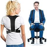 Correttore di postura per uomini e donne, Correttore Postura con 2 modi di indossamento Regolabile, Che Fornisce Sollievo dal