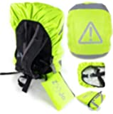 ZooJa Rucksack Regenschutz für Ranzen und Rucksack für mehr Sicherheit für Kinder - Besonders wasserdicht und reflektierend und extra Tasche - Regenhülle für Wandern, Camping, Radfahren