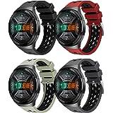 Yaspark Armband för Huawei Watch GT 2e, silikon klocka armband sport andas ersättningsarmband tvåfärgad design armband för Hu